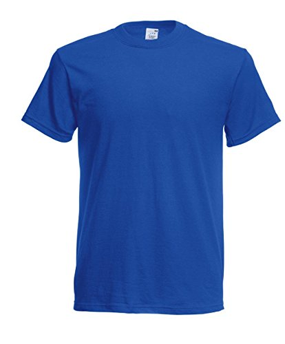 Fruit of the Loom Herren Original Full Cut T-Shirt Royal