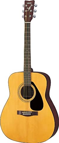Yamaha F310P Akustik Westerngitarre natur (inkl. Gigbag, Gurt, Stimmpfeife, Saiten, 3 Plecs, Saitenkurbel, (Yamaha Akustik-gitarren Saiten)