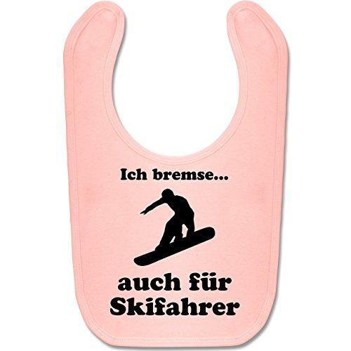 Sport Baby - Snowboard - Ich bremse auch für Skifahrer - Unisize - Babyrosa - BZ12 - Baby Lätzchen ()