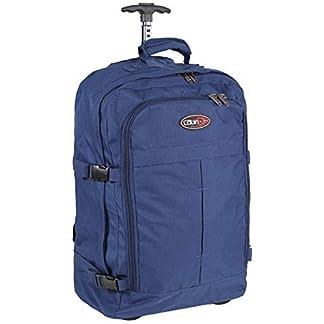 Cabina GO cod. MAX 5525 trolley Retractable Straps – Equipaje de mano/bolsa de viaje liviana. – 55 x 40 x 20 cm, 44 litros – con ruedas. Aprobado vuelo IATA/EasyJet/Ryanair