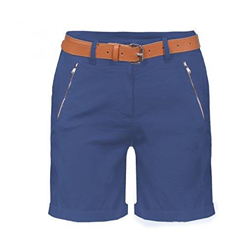 Damen Chino Bermuda Shorts, kurze Hose inkl. Gürtel ( 488 ), Grösse:40 L, Farbe:Navy (Ab Shorts Casual Frauen 40)