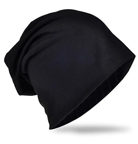 Jersey Slouch Beanie Long Mütze Damen Herren Mützen Trend