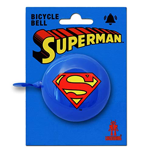 Kind Returns Superman Kostüm - Logoshirt DC Comics - Superheld - Superman Logo Retro Fahrradklingel aus massivem Stahl - blau