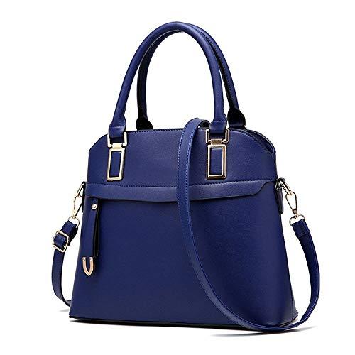 HUOYUJIE Neue Damen Tasche Mode geprägte Handtaschen Umhängetasche JF (Color : Dark Blue) - Geprägte Mode Handtasche