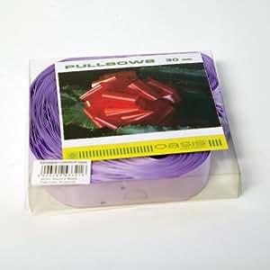 Fiocchi rapidi in raso da tirare (30 pezzi) 31mm lilla larghezza 10cm da aperti per decorazioni, bouquet, matrimonio, cesti, natale