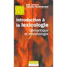 Introduction à la lexicologie
