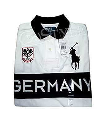 POLO RALPH LAUREN BIG PONY GERMANY ALLEMAGNE L BLANC