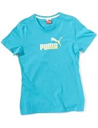 Puma Large Logo T-shirt pour fille en coton bio