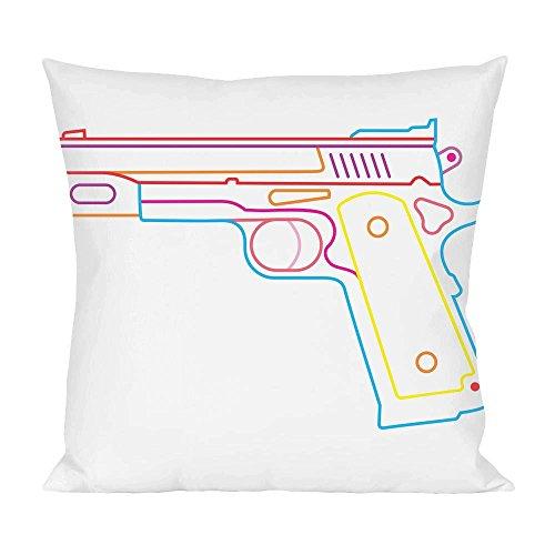 Neon gun Pillow