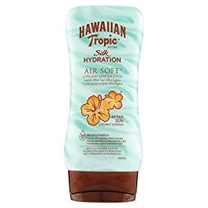 41QXG02iY9L. SS300  - Hawaiian-Tropic-AfterSun-Air-Soft-Locin-Hidratante-Ultra-Ligera-Coco-y-Papaya