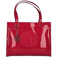 f3abef0042d Armani Jeans shopping bag woman Pvc Plastica Geranium