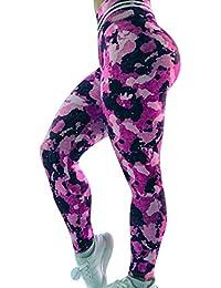 4a5a1a8fc67d4 Mallas Deporte Mujer Leggins Fitness Push up Running Yoga Pantalón Medias  Deportivas Multicolor 3D Impresión Camuflaje Gym Pantalones…