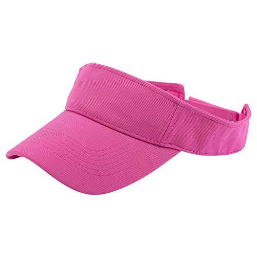 VRTUR Sommer Sunvisor Einheitsgröße Unisex Cap mit Klettverschluss Einstellbar Anti-UV für Reisen Radsport Golf Sport Sonnenschild Visier Kappe Hot Pink Hot Pink Cashmere