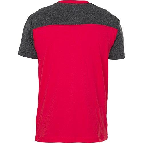 Grundlegendes T Shirt des Bartons der American Fighter Männer Grau