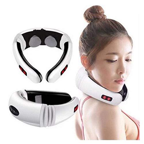 Cimic Elektrischer Nackenmassagegerät Impuls-Massager-zervikaler Shiatsu Halswirbel Massagegerät Muskelschmerzen Entlastung Werkzeug