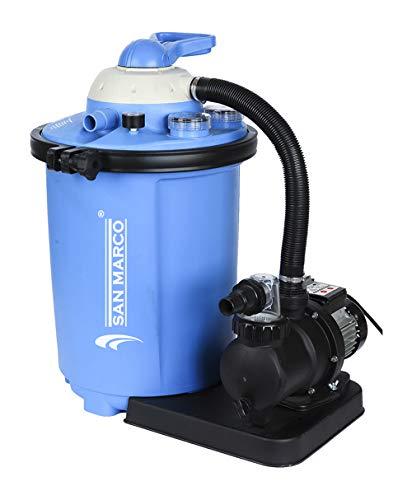 Filtro a sabbia 10 m3/hfino a 60 m3 per piscine fuoriterra e interrate (10,5 m3/h con prefiltro) compatibile con piscine intex o bestway