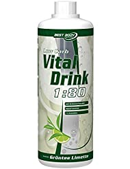 Best Body Nutrition Low Carb Vital Drink 2 x 1 Liter 2er Pack Grüntee-Limette