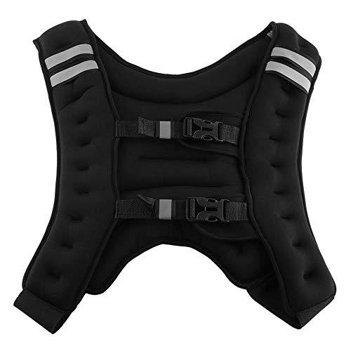 ZJY 11lbs Sport Weighted Vest - Verstellbarer elastischer Saum Reflektierender Streifen Mesh Pocket Aggravation Trainingsgerät - Geeignet für Jogging Aerobic-Übungen (übung Gewichtete Bar)