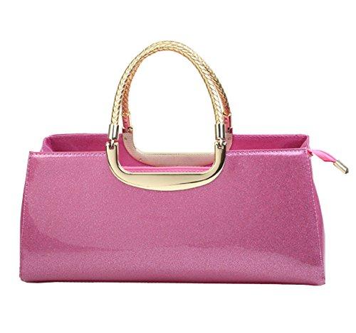 LAIDAYE Frau Mode Lackleder Abendtaschen Hand 2