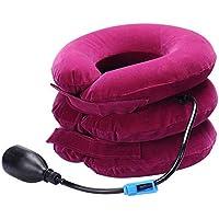 Ingeniously Cuello Cervical, Dispositivo de tracción Cervical, Almohada Inflable para el Cuello, Dispositivo Ajustable de tracción del Cuello para el Dolor de Cabeza y Hombro