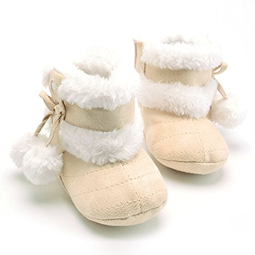 Rrimin Baby Girls Winter Snow Boots NWT Infant Solid Bowknot Shoes Prewalker