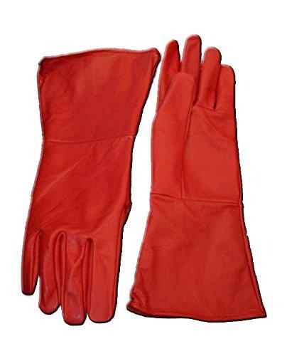 Leather Mystics Lederhandschuh, Rot, Gr. S (Santa Con Kostüm)