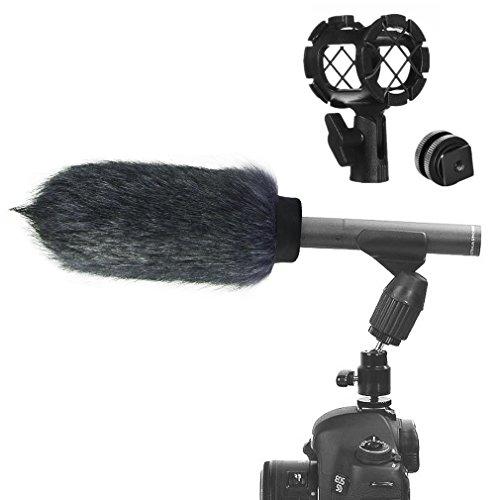 first2savvv-negro-microfono-externo-peludo-parabrisas-manguito-para-grabadores-digitales-para-rode-n