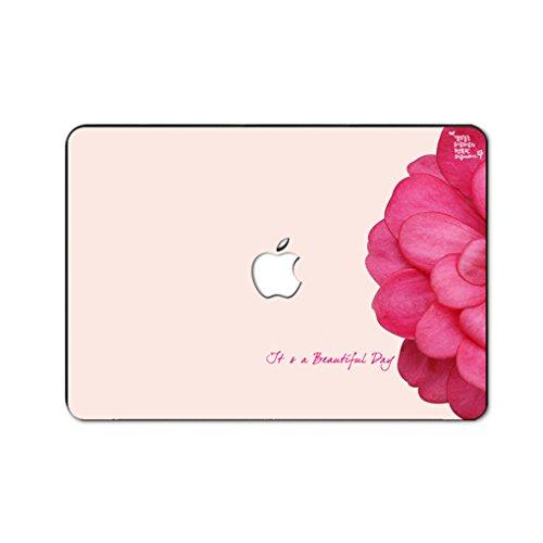 kikhorse Schön Blume Kollektion Hochwertige Ultra Dünn Vorderseite Aufkleber Removeable Top Abziehbild Für New MacBook Air 13 Zoll Retina (2019/2018, Touch ID) (Modell: A1932) (Rad Blatt)