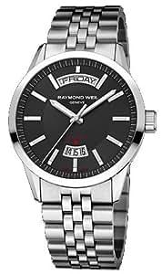 Raymond Weil Men's 42mm Steel Bracelet & Case Automatic Black Dial Analog Watch 2720-ST-20001