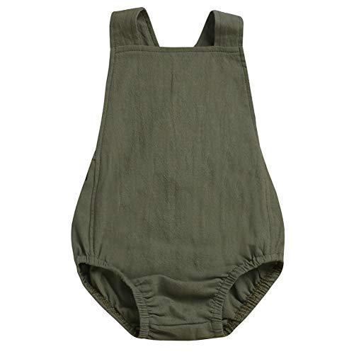 Hongyuangl Neugeborenen Latzhose Säugling Baby Mädchen Kleidung Overall Strampler Bodys Sunsuit Outfits - Säuglings-kleidung Grün