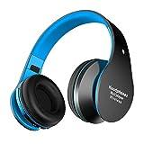 Alitoo Auriculares Bluetooth de Diadema Inalámbricos, Wireless Headphones Cascos Bluetooth Plegable con Micrófono Manos Libres y Hi-Fi Sonido Estéreo (Azul Negro)