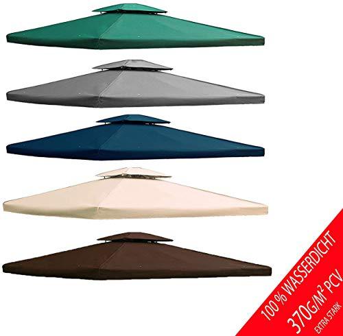 freigarten.de Ersatzdach für Pavillon 3x4 Meter Wasserdicht Material: Panama PCV Soft 370g/m² extra stark Modell 5 (Grün)