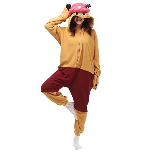 Carnival Spielanzug Kostüme Pyjamas Bekleidung Animal Erwachsene Unisex Schlafanzüge Karneval Onesies Cosplay Jumpsuits Anime Weihnachten Halloween Nachtwäsche Mädchen Tony Chopper