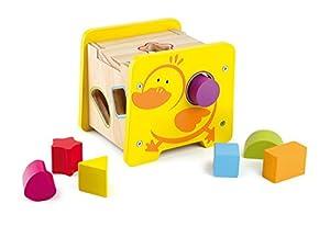 Legler - Cubo de motricidad con diseño Pato, 7 Piezas de Madera (8560.0)