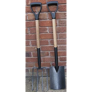 Stainless Steel Garden Hand Tools Fork Spade Digging Border Gardening Heavy Duty