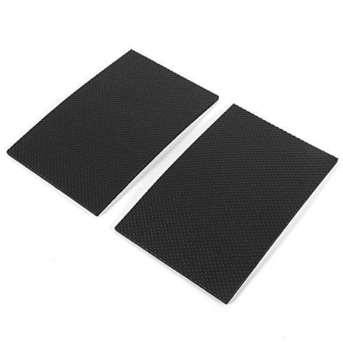 GLOGLOW 2 Stück rutschfeste selbstklebende Pads Rechteck Gummi Bodenschutz Silent Feet Abdeckung für Möbel Tisch Stuhl (Silent Feet-anti-vibration)