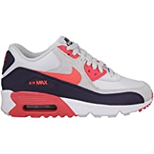 Nike Youths Air Max 90 Mesh Multi Leather Trainers 35.5 EU