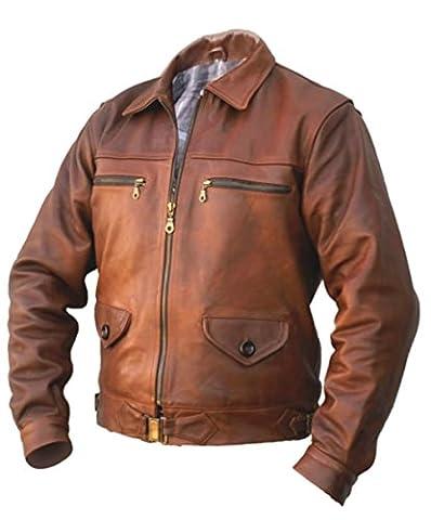 Blouson d'aviateur HARTMANN en cuir de taureaux