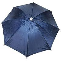 sourcingmap® Adjustable Headband Headwear Umbrella Hat Navy Blue