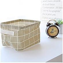 Saint Kaiko Tela Cajas De Almacenaje Decorativas Cuadrada Almacenamiento  Cajón De Almacenamiento Plegable Cubo De Almacenamiento