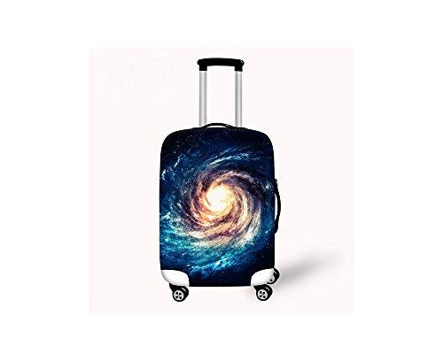 Hysenm Housse de Protection pour Valise 66-71cm / 26-28 pouces Zippé Élastique Résistant Couverture Bagage Voyage galaxie L