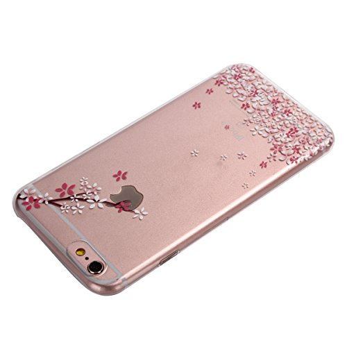 iPhone 6S plus Coque, Aeeque Butterfly Fantasy Violet Dessin Silicone Doux TPU Anti-rayures Protection Complète du Corps Case Cover Housse Etui pour iPhone 6 plus 6S plus 5.5 pouce Fleur élégante (#8)