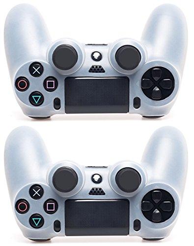 MyGadget 2x Silikon Schutzhülle für PS4 Dualshock Controller - Schutz & guter Grip - Skin Zubehör für Sony Playstation 4 Dual Shock in transparent