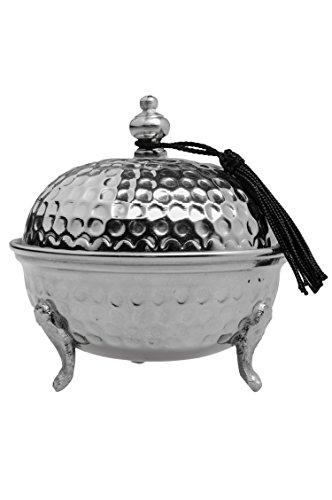 Orientalische Zuckerdosen Dosen aus Messing in Silber Amir 12cm | Marokkanische Minzdose Tee Kaffee...