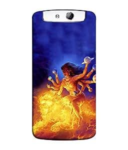Fuson Designer Back Case Cover for Oppo N1 (Maa Saraswati Lakshmi Amba )