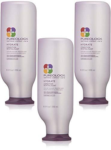 Pureology Hydrate Conditioner (Hydrate Conditioner Conditioner - Für trockenes gefärbtes Haar - 250 ml - Ptipairs Packung mit 3 Stück)