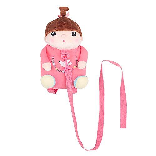 Imagen de arnés de seguridad , belk [ligero de viaje] 2en 1animal de peluche & de sujeción para bolsa con correa desmontable, [anti perdido] bebé niño niña guardería  dorado rosa