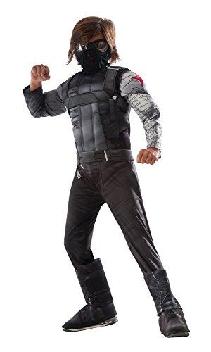 America Boy Kostüme Captain (Marvel Captain America Civil War ~ Winter Soldier Deluxe - Kids Costume 8 - 10)