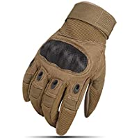 YXZN Guantes Full Finger Hombres Y Mujeres Antideslizantes Al Aire Libre Tactical Sports Riding Equipment,Yellow,XL