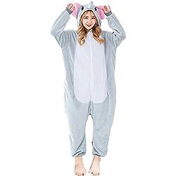 Z-Chen Disfraz de Pijama Animales para Unisex Adulto, Elefante, M (Altura: 160-170cm)